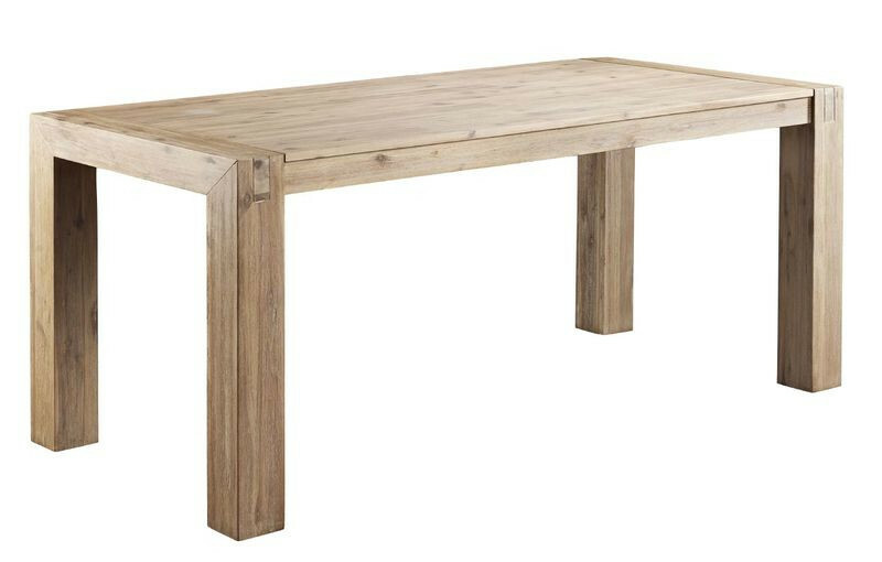 Eettafel Salzburg 160x90 smoked white brush