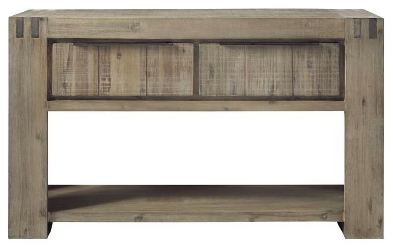 Wandtafel Bassano L144xB40 acaciahout rough warm grey