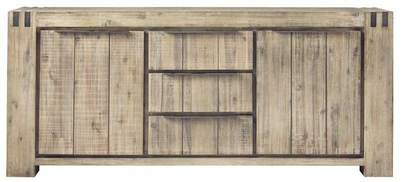Dressoir Bassano (200 breedte) acaciahout light grey