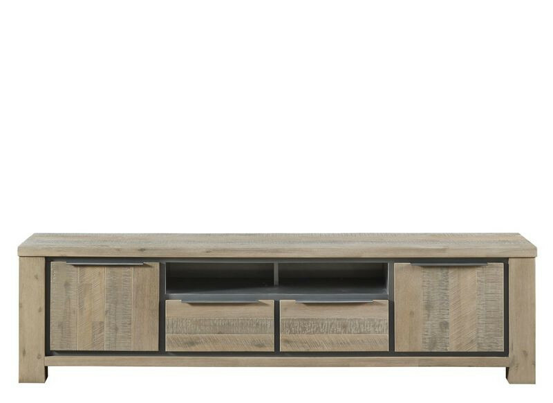 Lage Open Tv Kast.Tv Meubel Robusto Vintage Grey