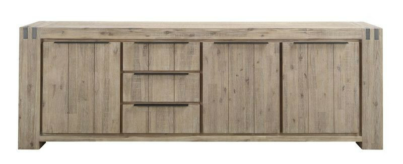 Dressoir Bassano rough light grey
