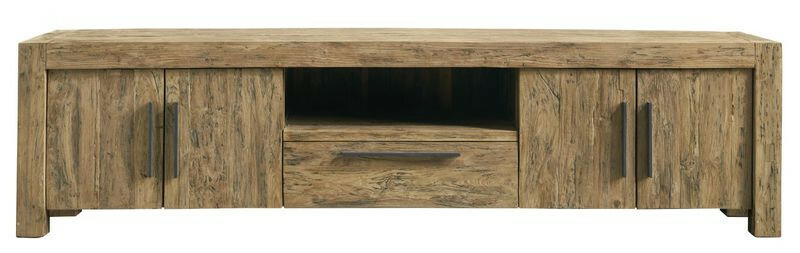 TV-Dressoir Travi teak black wash