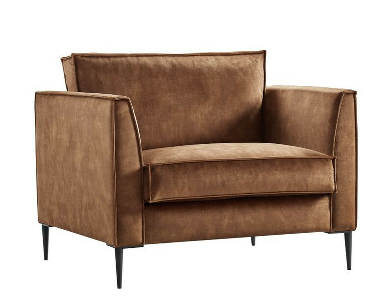 Loveseat Mondini (99 breedte) smal polyether zitting hazel