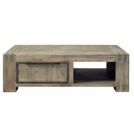 Salontafel Bassano L140xB80 rough warm grey