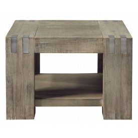 Hoektafel Bassano L65xB65 acaciahout rough warm grey