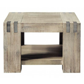 Hoektafel Bassano light grey 65x65