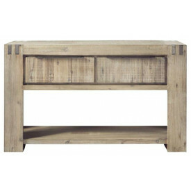 Wandtafel Bassano acaciahout light grey 144x40