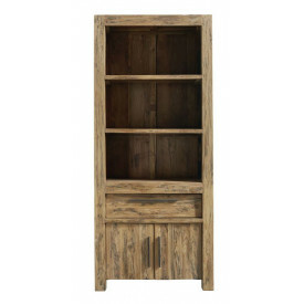 Boekenkast Travi teak black wash