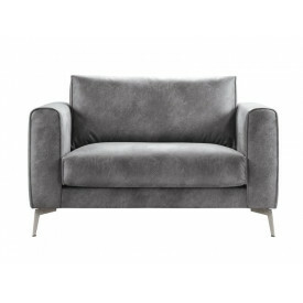 Loveseat Linoza koudschuim zitting dark grey